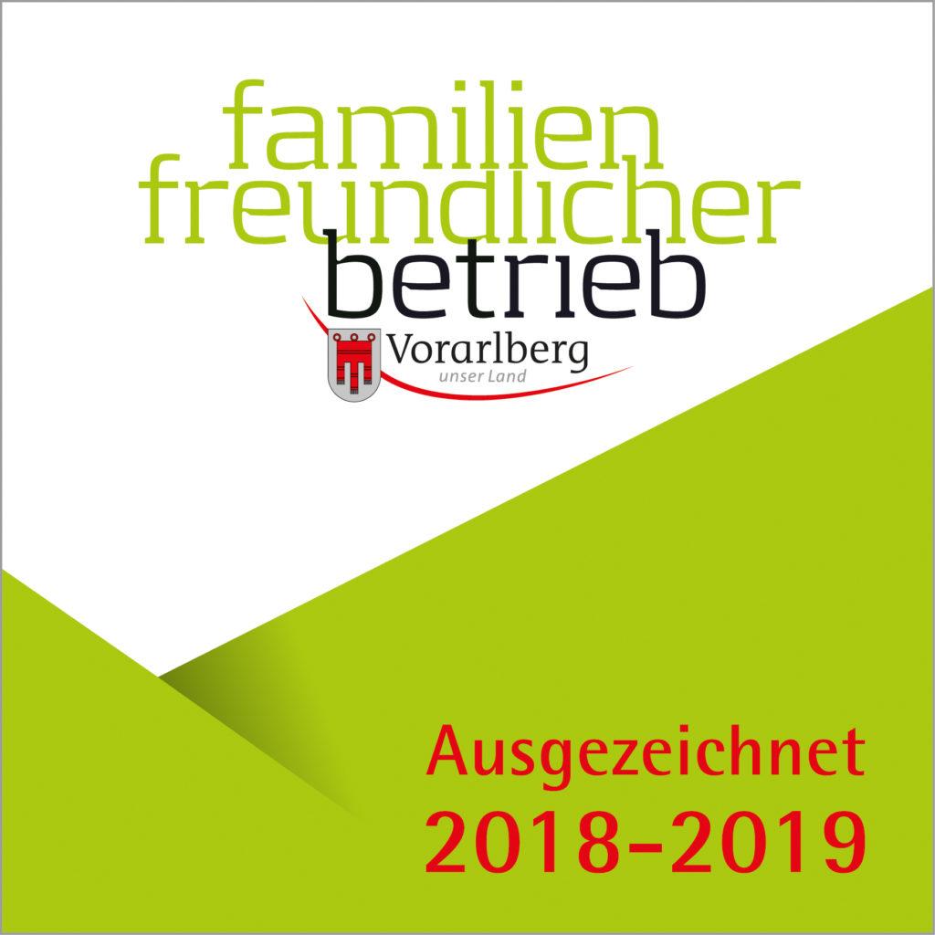 Auszeichnung familienfreundlicher Betrieb 2018